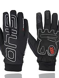 cheap -Winter Bike Gloves / Cycling Gloves Mountain Bike Gloves Mountain Bike MTB Thermal / Warm Touch Screen Windproof Anti-Slip Full Finger Gloves Touch Screen Gloves Sports Gloves Black for Adults'