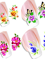 cheap -50 pcs Water Transfer Sticker Flower Series / Flower nail art Manicure Pedicure New Design / Best Quality / High quality, formaldehyde free Classic / Sweet Christmas / Party / Evening / Masquerade