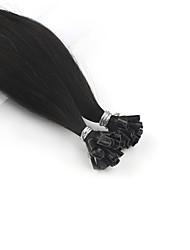 cheap -Neitsi Fusion / U Tip Human Hair Extensions Straight Human Hair Human Hair Extensions 1pack Women's Chestnut Brown