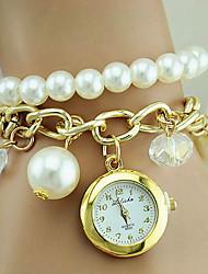 Недорогие -Жен. Часы-браслет обернуть часы Кварцевый Золотистый Повседневные часы Аналоговый Дамы Кулоны Мода - Золотистый