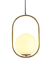 cheap -Modern Glass Pendant lighting Ceiling Chandelier oval Hanging Lamp 1 Lights Fixture Flush Mount, Electroplated Gold Finish