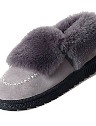 cheap -Women's Snow Boots Faux Fur / PU(Polyurethane) Fall Minimalism Boots Flat Heel Round Toe Booties / Ankle Boots Black / Gray