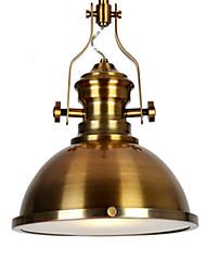 cheap -1-Light QINGMING® 31 cm Mini Style Pendant Light Metal Mini Electroplated / Painted Finishes Retro / Country 110-120V / 220-240V