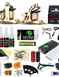 cheap -DRAGONHAWK Tattoo Machine Starter Kit, 2 pcs Tattoo Machines with 4 x 5 ml tattoo inks - 2 cast iron machine liner & shader