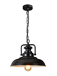 cheap -Northern Europe Vintage Industry Black Metal Shade Pendant Lights Dining Room Living Room Kitchen Light Fixture 1-Lights
