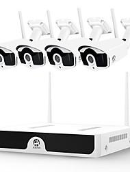 Недорогие -jooan wireless cctv system 4ch 1080p видеомагнитофон cctv nvr 4 x 2.0mp wifi наружная сеть ip-камеры хорошее ночное видение