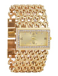cheap -Women's Bracelet Watch Diamond Watch Analog Quartz Ladies Calendar / date / day Chronograph Hollow Engraving / One Year