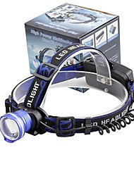 cheap -U'King Headlamps Headlight 2000 lm LED LED Emitters 3 Mode Zoomable Alarm Adjustable Focus Compact Size High Power Easy Carrying Camping / Hiking / Caving Everyday Use Cycling / Bike / Aluminum Alloy