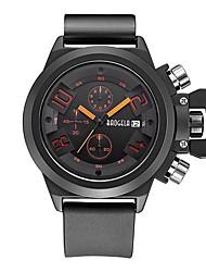 cheap -Men's Sport Watch Japanese Japanese Quartz Silicone Black 30 m Calendar / date / day Chronograph Noctilucent Analog - Digital Classic Fashion - Black / Green Black / Red / Large Dial