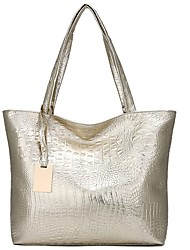 cheap -Women's Embossed PU Tote Crocodile Black / Gold / Silver / Fall & Winter
