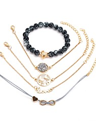 cheap -5pcs Women's Chain Bracelet Layered Turtle Infinity Ladies Romantic Stone Bracelet Jewelry Gold For Gift Festival