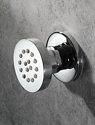 cheap -Chrome Body Jet Rain Shower Round Brass rotatable Wall Mounted Message Shower Head