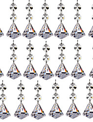 cheap -20pcs 30mm Diamond Crystal Glass Ball Chandelier Prisms Pendants Parts Beads