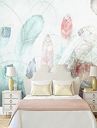 cheap -Wallpaper / Mural Canvas Wall Covering - Adhesive required Painting / Art Deco / Tile