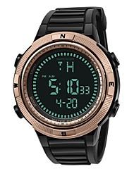 cheap -Couple's Digital Watch Digital Black Calendar / date / day Chronograph Noctilucent Digital Casual - Black / Blue Black / Silver Black / Rose Gold