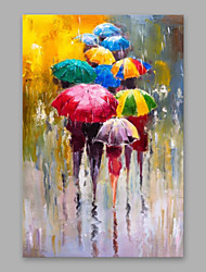 cheap -Oil Painting Handmade Hand Painted Wall Art Home Decoration Décor Living Room Bedroom Rain Umbrella Abstract Modern Rolled Canvas