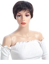 cheap -Human Hair Capless Wigs Human Hair Straight Short Bob / Short Hairstyles 2019 Women / Best Quality / Hot Sale Natural Capless Wig Burmese Hair Women's