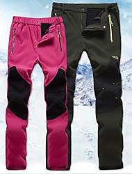cheap -Women's Hiking Pants Softshell Pants Winter Outdoor Windproof Fleece Lining Breathable Warm Softshell Pants / Trousers Skiing Hunting Hiking Black Fuchsia Grey M L XL XXL XXXL / Quick Dry / Quick Dry