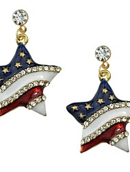 cheap -Women's AAA Cubic Zirconia Drop Earrings Tropical Star Ladies Basic Fashion Earrings Jewelry Gold For Daily Date 1 Pair