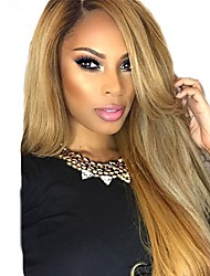 cheap -Remy Human Hair Full Lace Lace Front Wig Asymmetrical Wendy style Brazilian Hair Straight Natural Straight Blonde Wig 130% 150% 180% Density with Baby Hair Soft Women Best Quality Hot Sale Women's