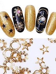 cheap -1 pcs Classic / Best Quality Metal Alloy Nail Jewelry For Finger Nail Christmas Star nail art Manicure Pedicure Christmas / Party / Evening / Office / Career Artistic / Aristocrat Lolita