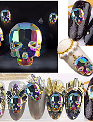 cheap -10 pcs Crystal / Classic / High Transparency Rhinestone Nail Jewelry Rhinestones For Finger Nail Skull Horror nail art Manicure Pedicure Halloween / Party / Evening / Daily Artistic / Guro Lolita