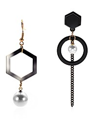 cheap -Women's Black Drop Earrings Mismatched Long Ladies Punk Lolita Trendy Fashion Earrings Jewelry Black For Party / Evening Bar 2pcs