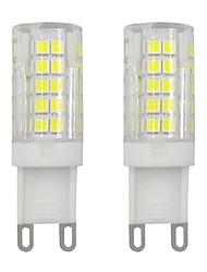 cheap -3W G9 Mini LED Corn Bulb 2835 SMD 64 LEDs for Wall Light Home Lighting Cold White Warm White AC 220V - 240V (2 Pcs)