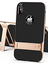 cheap -Case For Apple iPhone XS / iPhone XR / iPhone XS Max with Stand Back Cover Solid Colored Hard PC