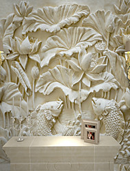 cheap -Wallpaper / Mural Canvas Wall Covering - Adhesive required Solid Colored / Art Deco / 3D