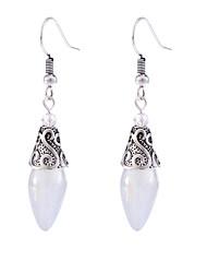 cheap -Women's Moonstone Drop Earrings Hanging Earrings Vintage Style Classic Flower Shape Teardrop Ladies Vintage Sweet Elegant everyday Earrings Jewelry Silver For Birthday Date 1 Pair