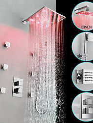cheap -Shower Faucet / Bathroom Sink Faucet - Contemporary Chrome Wall Mounted Brass Valve Bath Shower Mixer Taps