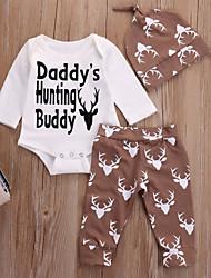 cheap -Baby Boys' Basic Christmas / Daily Print / Christmas Long Sleeve Regular Cotton Clothing Set Blushing Pink / Toddler