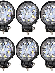 cheap -6 Pieces 27W 2100LM 6000K Engineering Trucks Agriculture Special Trucks Super Bright LED Work Light