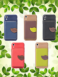 cheap -Case For Apple iPhone XS / iPhone XR / iPhone XS Max Wallet / Card Holder / with Stand Back Cover Solid Colored Soft PU Leather