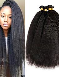 Недорогие -4 Связки Бразильские волосы Яки Натуральные волосы 200 g Человека ткет Волосы Пучок волос One Pack Solution 8-28 дюймовый Естественный цвет Ткет человеческих волос / 8A