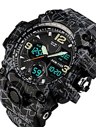 cheap -SKMEI Men's Couple's Military Watch Digital Watch Navy Seal Watch Digital Casual Water Resistant / Waterproof Analog - Digital Black / Gray Blue Gray / Quilted PU Leather / Calendar / date / day