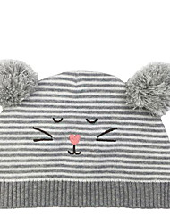 cheap -Toddler Unisex Active Daily Solid Colored / Cartoon Knitting Polyester Hats & Caps Gray S / M / L