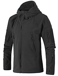 cheap -Men's Hiking Jacket Military Tactical Jacket Hiking Fleece Jacket Winter Outdoor Thermal / Warm Windproof Breathable Stretchy Fleece Winter Jacket Top Hunting Fishing Climbing Black Army Green Grey