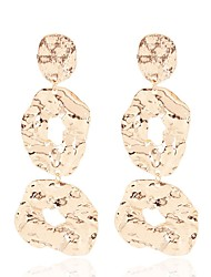 cheap -Women's Drop Earrings Long Ladies Stylish Hammered Earrings Jewelry Black / Rose Gold / Gold For Party / Evening Daily 1 Pair