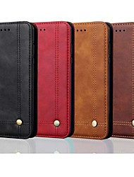 cheap -Case For Apple iPhone XS / iPhone XR / iPhone XS Max Wallet / Card Holder / with Stand Full Body Cases Solid Colored / Tile Hard PU Leather