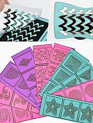Недорогие -10 pcs Полые наклейки для ногтей Креатив маникюр Маникюр педикюр Многофункциональный / Лучшее качество модный Повседневные