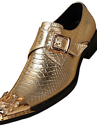 cheap -Men's Formal Shoes Nappa Leather Fall British Loafers & Slip-Ons Non-slipping Gold / Silver / Party & Evening / Party & Evening / Dress Shoes