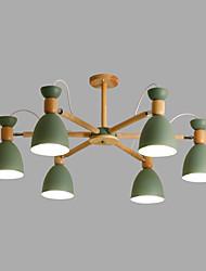 Недорогие -6-Light 85 cm Творчество / Регулируется Люстры и лампы Металл Спутник Окрашенные отделки Современный / Художественный 110-120Вольт / 220-240Вольт