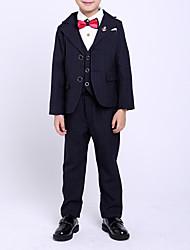 cheap -Kids Boys' Basic Striped Long Sleeve Cotton Clothing Set Blue