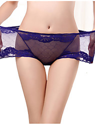 cheap -Women's Lace Cotton Sexy Seamless Panties / Boxers Underwear - Normal, Jacquard / Solid Colored 1box High Waist Black Wine White L XL XXL