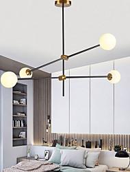 cheap -4-Light 100 cm Chandelier Metal Glass Sputnik Gold Painted Finishes Contemporary Artistic 110-240 V