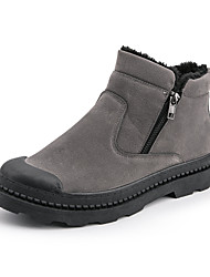 cheap -Men's Combat Boots Suede Winter Casual Boots Warm Mid-Calf Boots Black / Brown / Gray