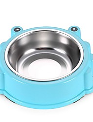 cheap -Dogs Cats Pets Bowls & Water Bottles / Feeders / Food Storage 3 L Plastic Stainless steel Portable Trainer Relieves Stress Solid Colored Green Blue Pink Bowls & Feeding