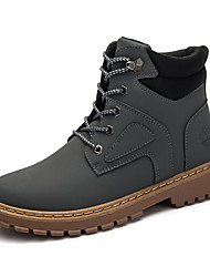 cheap -Men's Combat Boots Suede Fall Casual Boots Breathable Mid-Calf Boots Black / Yellow / Gray